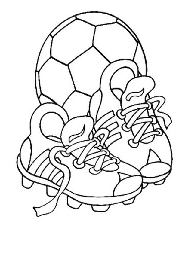 Malvorlagen Fußball  Fussball malvorlagen kostenlos zum ausdrucken
