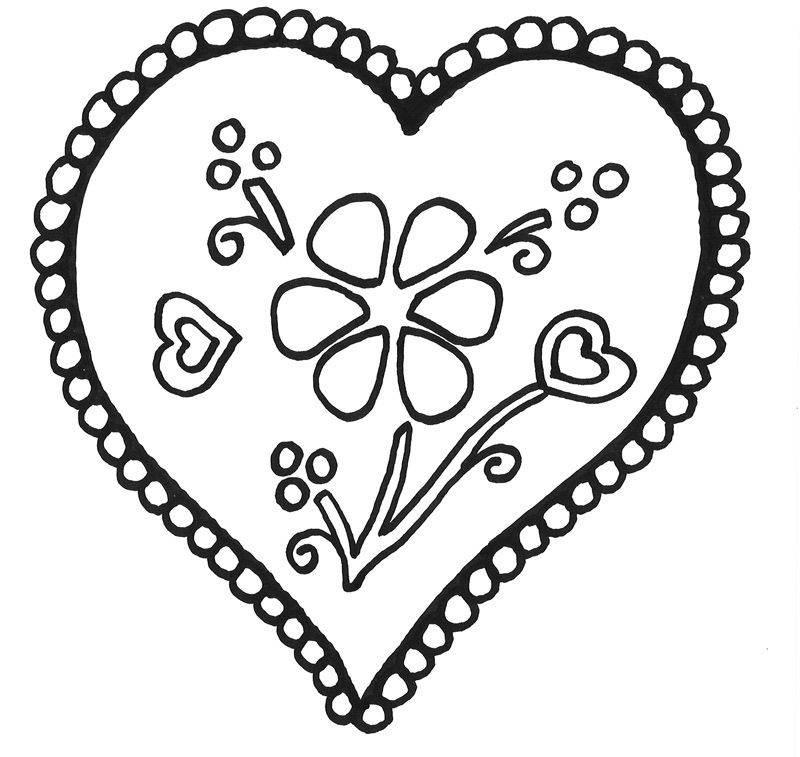 Malvorlagen Herz  Kostenlose Ausmalbilder und Malvorlagen Herzen zum