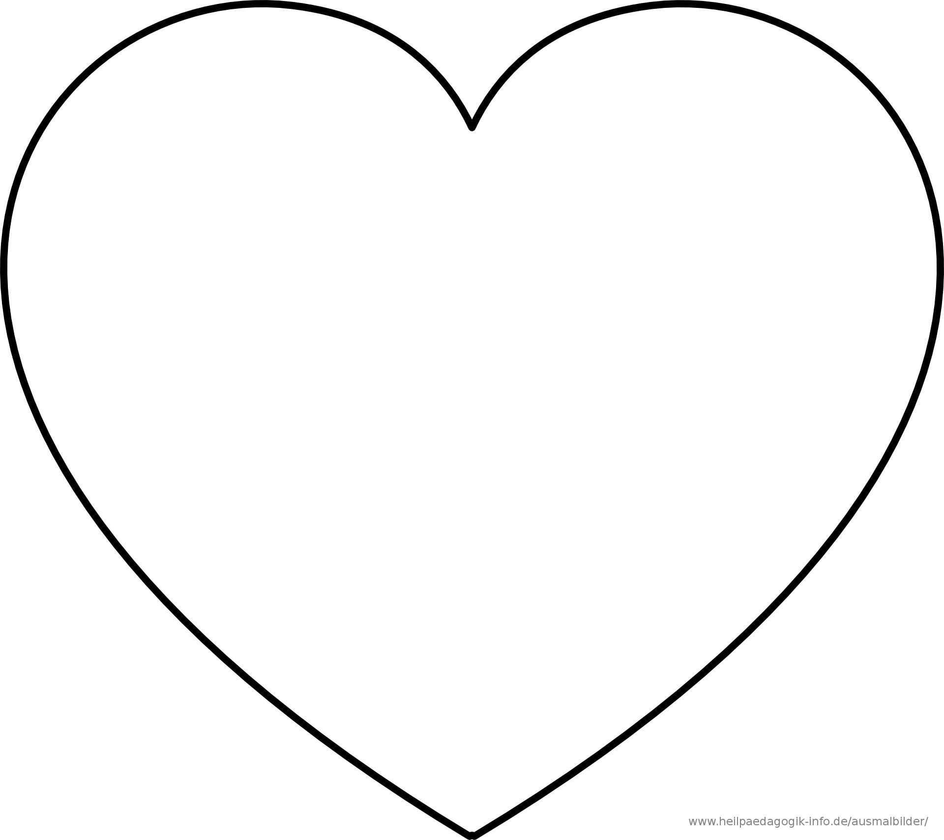 Malvorlagen Herz  ausmalbilder herz 01