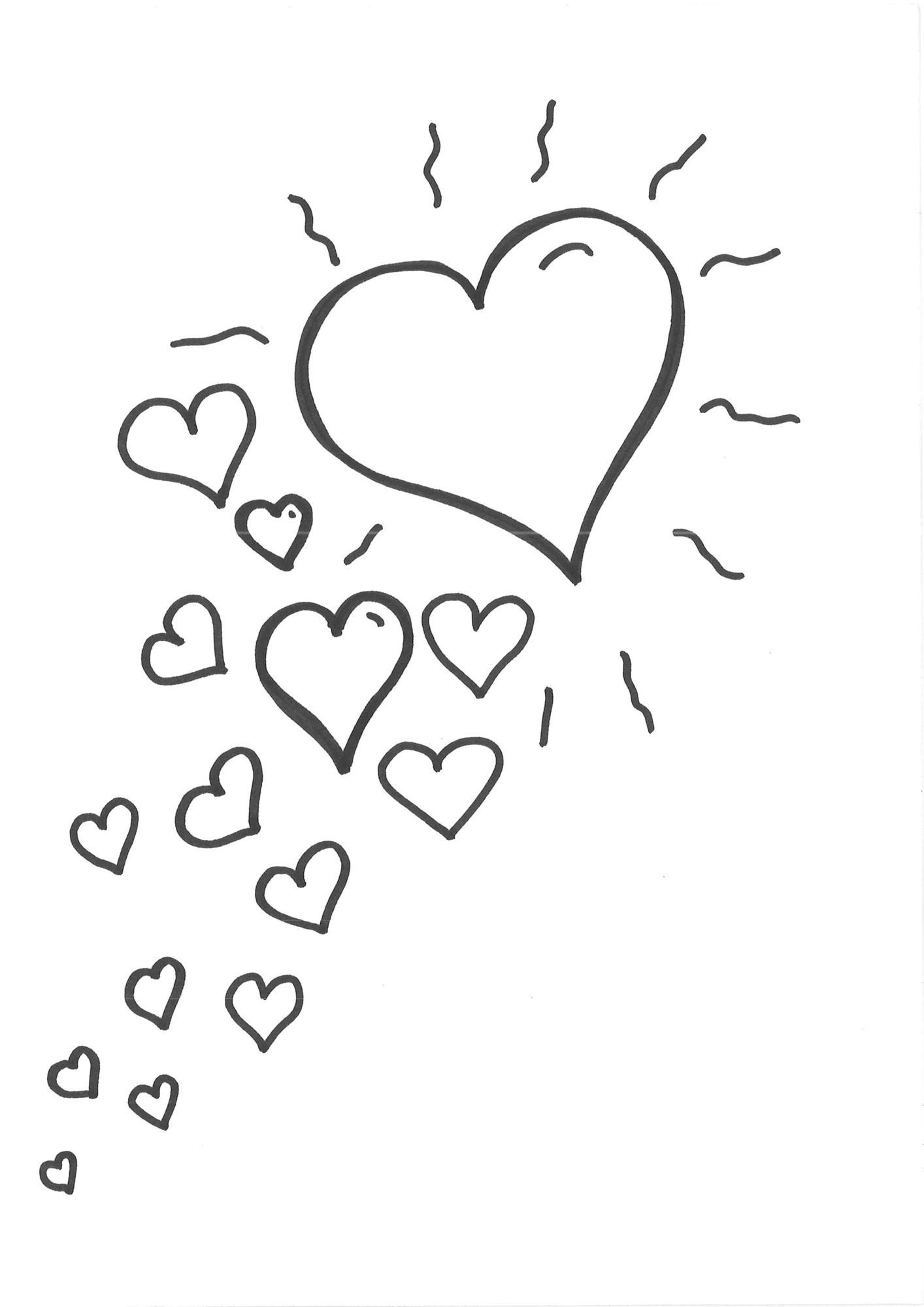 Malvorlagen Herz  Kostenlose Malvorlage Herzen Malvorlage Herzen zum Ausmalen