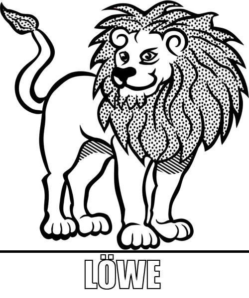 Malvorlagen Löwe  Malvorlage Löwe zum Ausdrucken