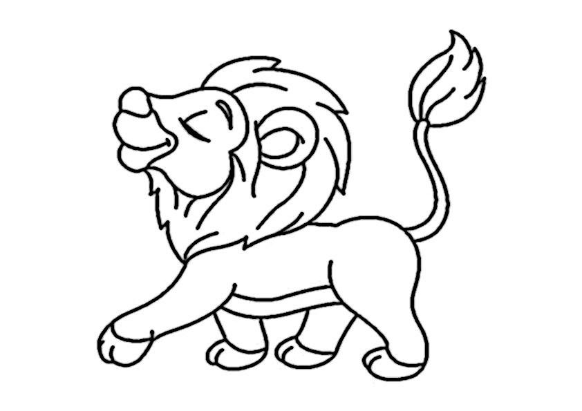 Malvorlagen Löwe  löwe 10