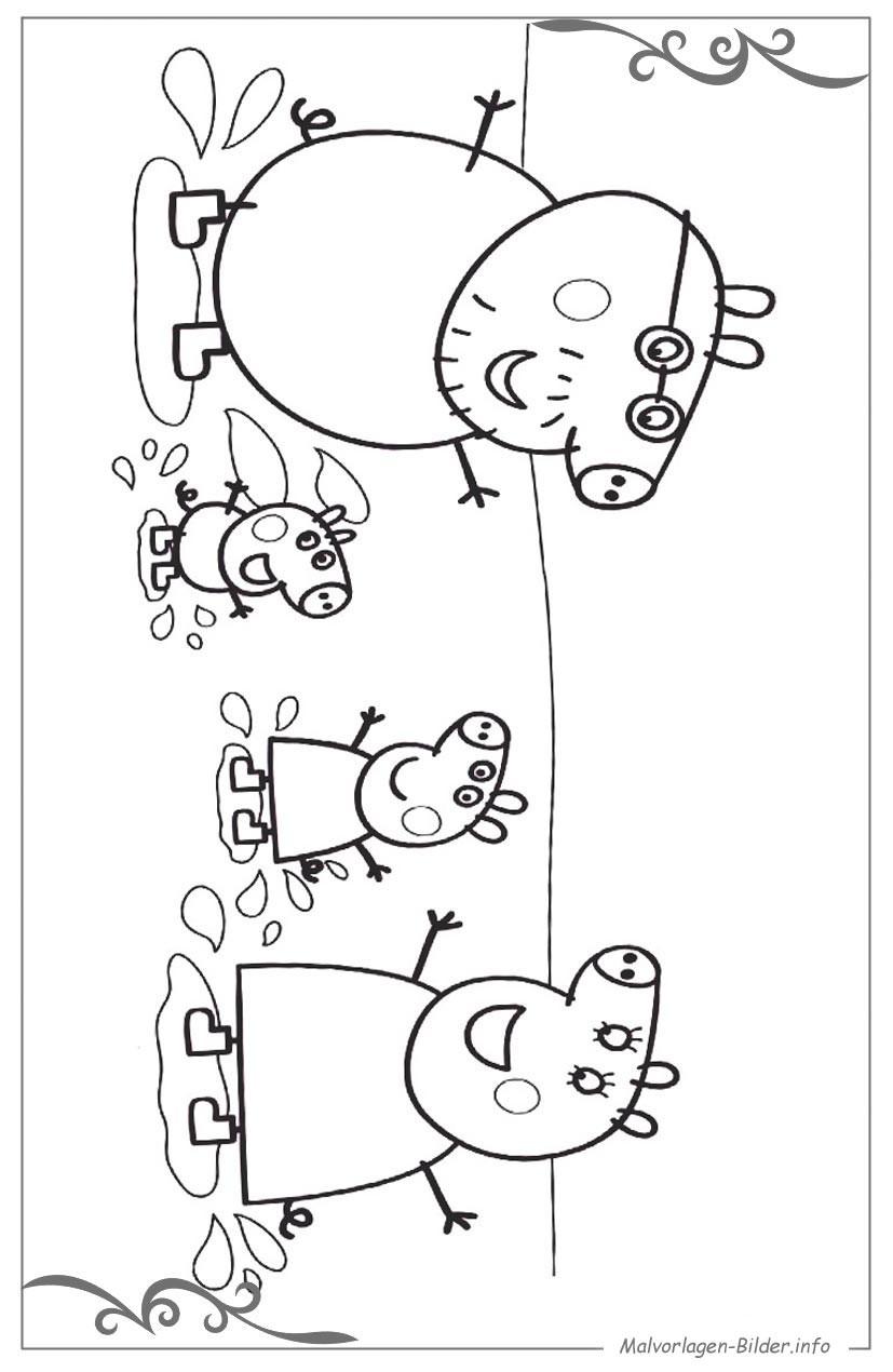 Malvorlagen Peppa Wutz  Peppa Wutz ausmalbild für kinder zum ausdrucken