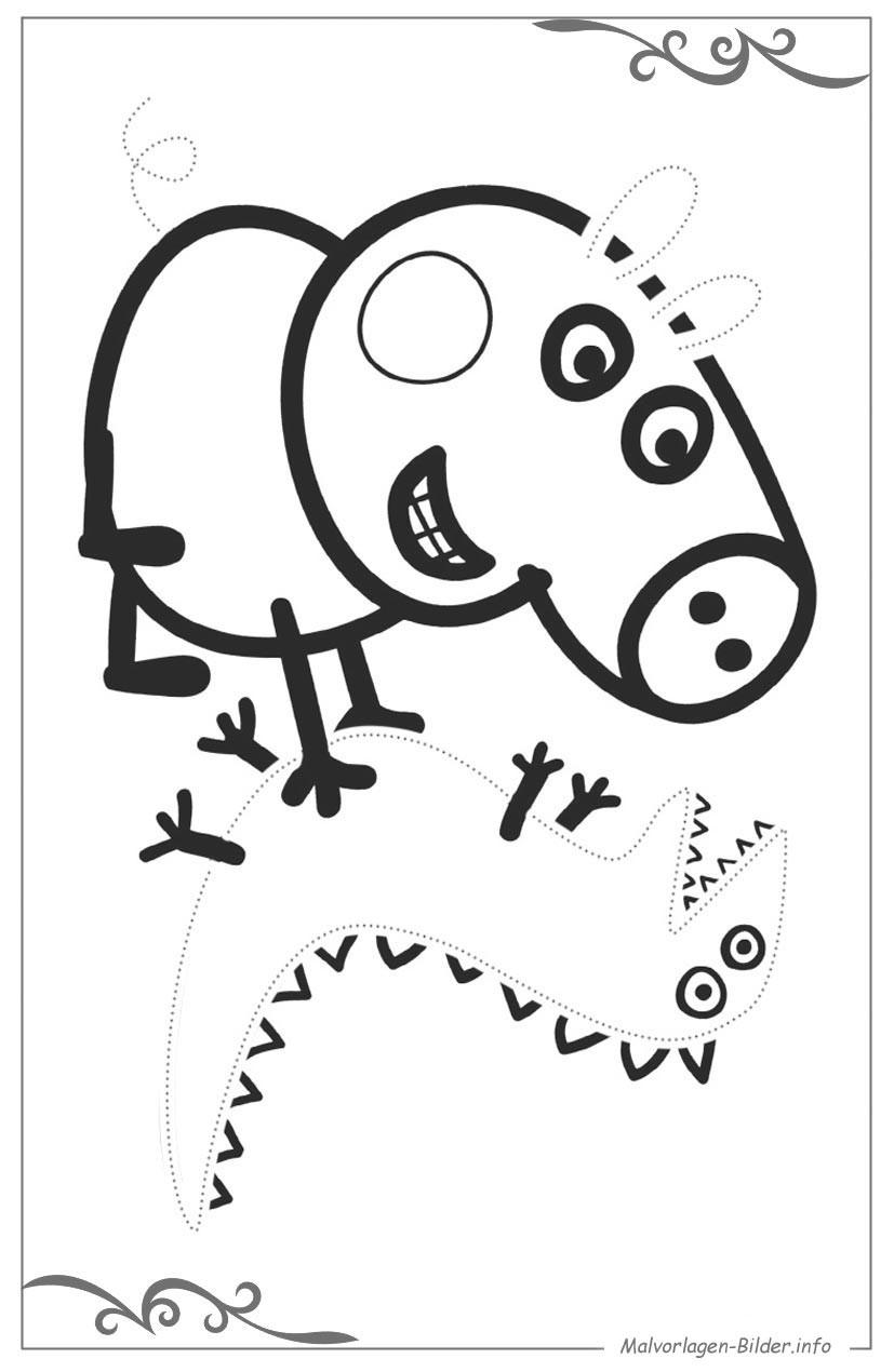 Malvorlagen Peppa Wutz  Peppa Wutz ausmalbilder für jungs zum ausdrucken
