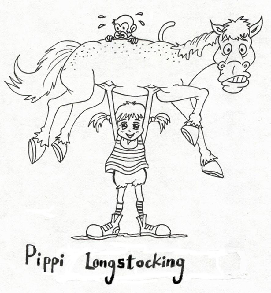 Malvorlagen Pippi Langstrumpf  KonaBeun zum ausdrucken ausmalbilder pippi langstrumpf