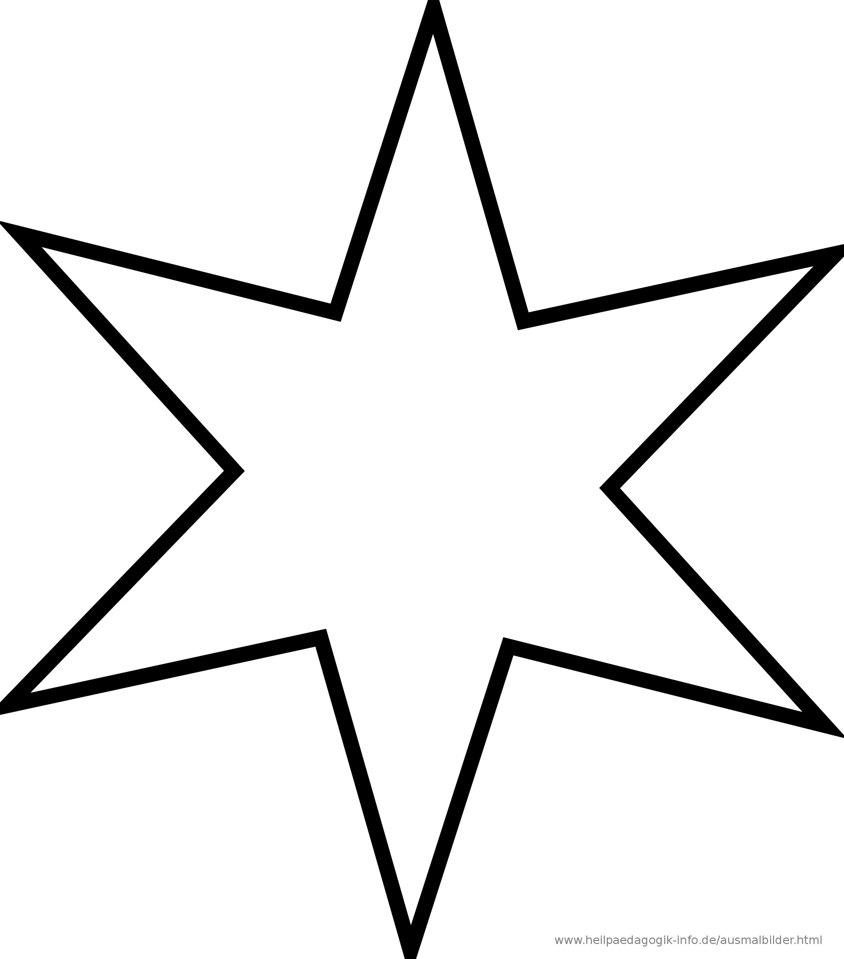 Malvorlagen Stern  Ausmalbilder Sterne