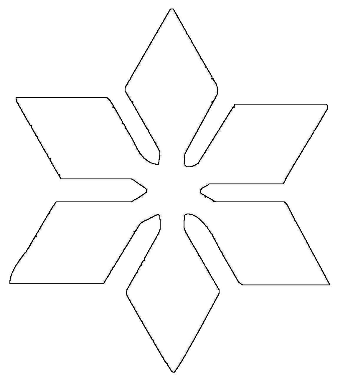 Malvorlagen Stern  Kostenlose Malvorlage Schneeflocken und Sterne Stern 8