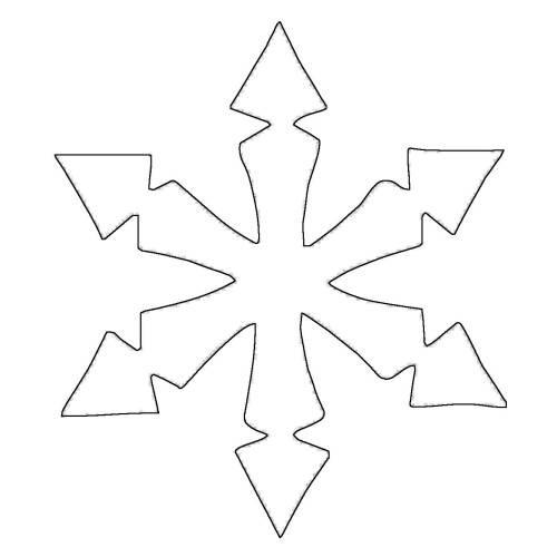 Malvorlagen Stern  Kostenlose Malvorlage Schneeflocken und Sterne Stern 7