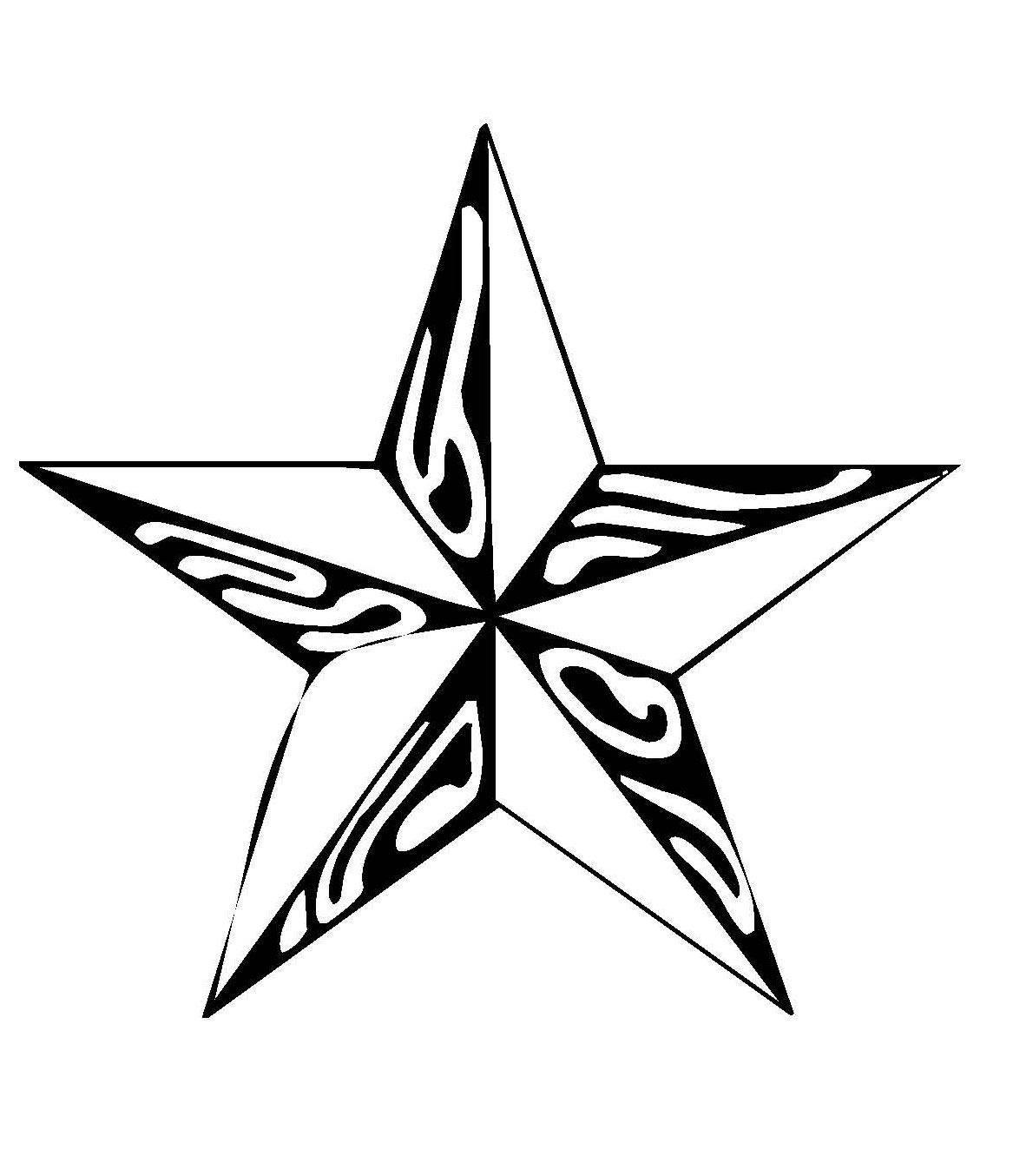 Malvorlagen Stern  Kostenlose Malvorlage Schneeflocken und Sterne Stern 6