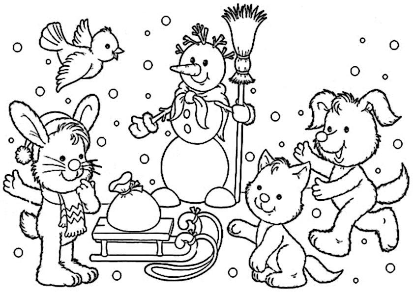 Malvorlagen Weihnachten Winter  winter 8