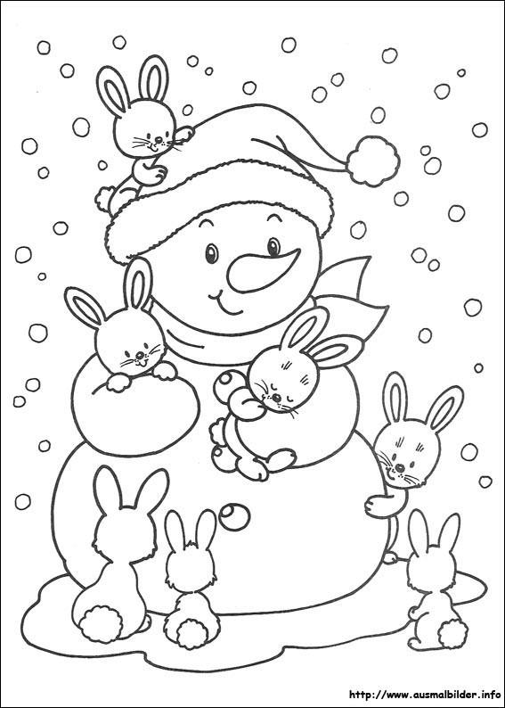 Malvorlagen Weihnachten Winter  Weihnachten malvorlagen
