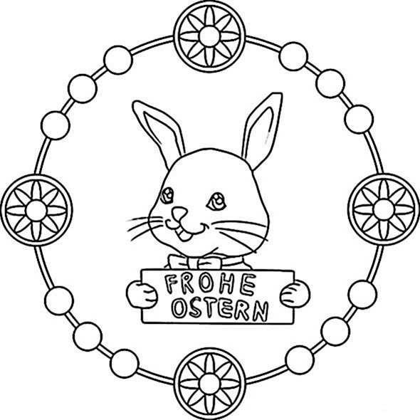 Mandala Ostern Malvorlagen  Ausmalbilder kostenlos Ostern 19