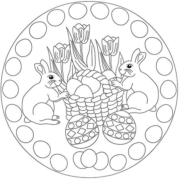 Mandala Ostern Malvorlagen  Ostern 3 Mandalas zum ausdrucken