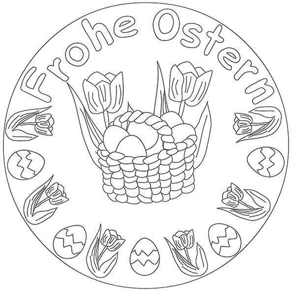 Mandala Ostern Malvorlagen  Ostern 1 Mandalas zum ausdrucken
