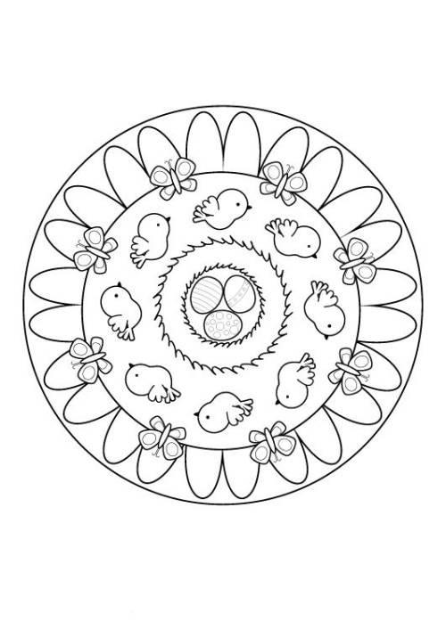 Mandala Ostern Malvorlagen  Kostenlose Malvorlage Mandalas Oster Mandala zum Ausmalen