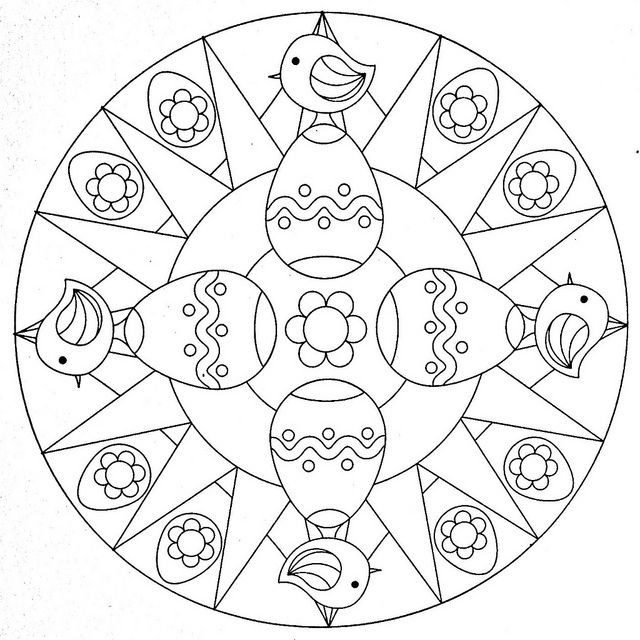 Mandala Ostern Malvorlagen  Mandala Coloring Page Eastern