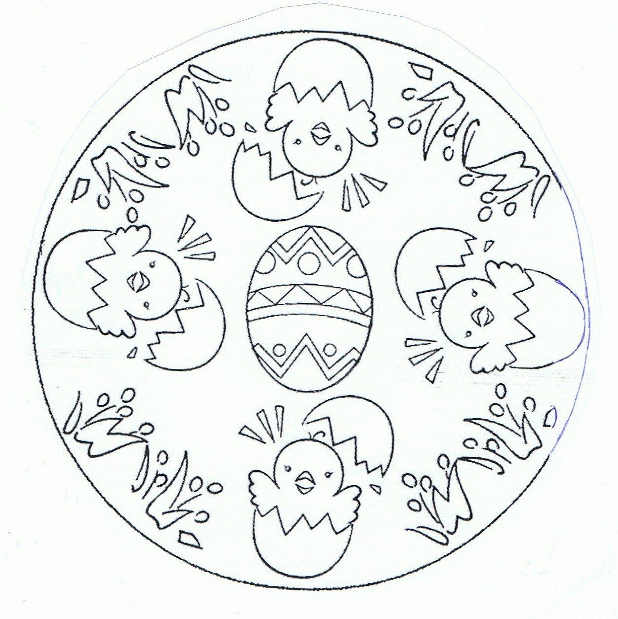 Mandala Ostern Malvorlagen  kuikentjes mandala Feest Pasen