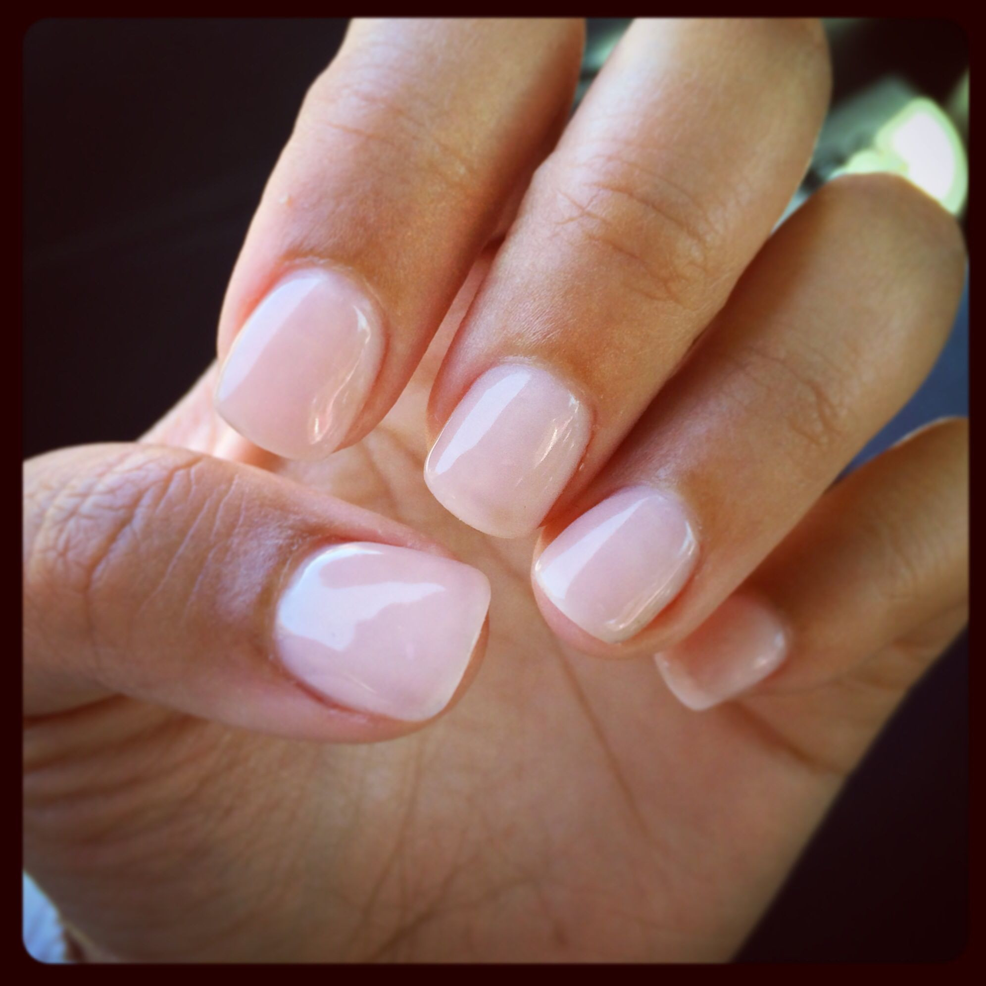 Maniküre Gel  So happy Got exactly what I wanted Natural nails