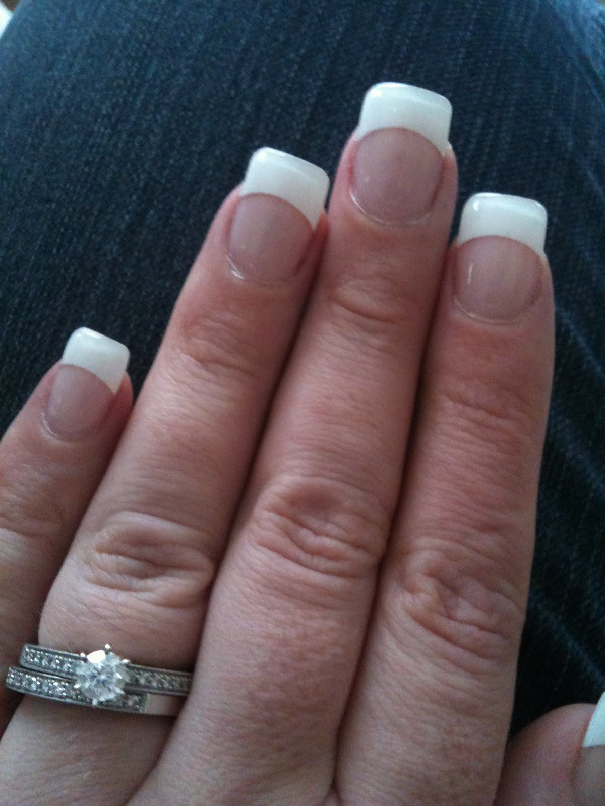 Maniküre Gel  MsSparkleArkle French Manicure with Gel Nails