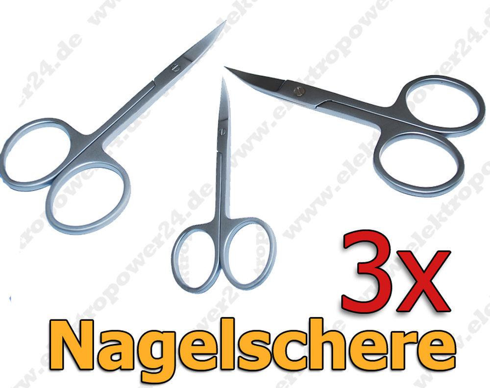 Maniküre Schere  3x Stück Maniküre Nagel Schere Nagelschere Pflege Schere