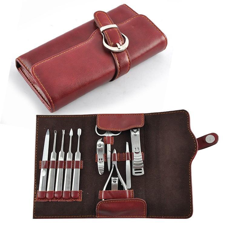 Maniküre Set Für Männer  Grooming kit für männer pu tasche herren grooming maniküre