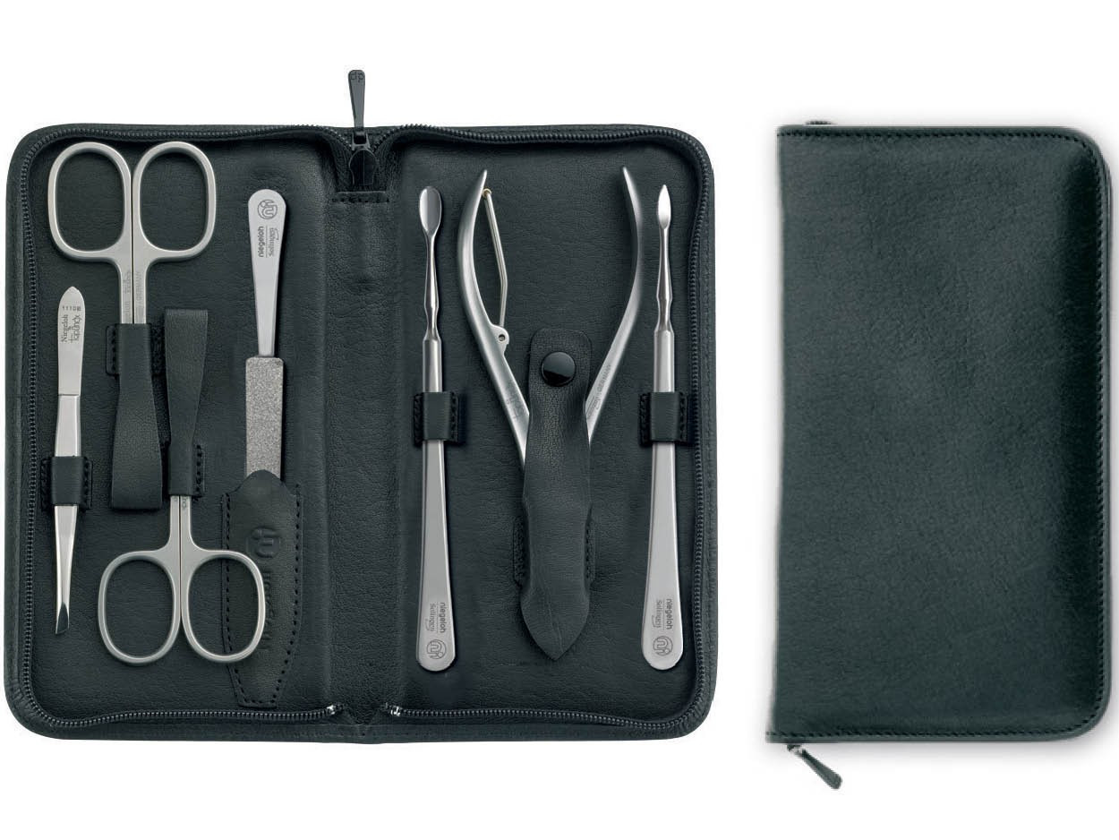 Maniküre Set Hochwertig  Niegeloh Nevada Zip XL Leather Manicure Set