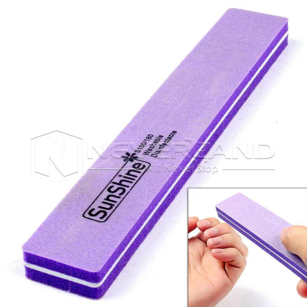 Maniküre Werkzeug  2 seitig Schleifblock Nagel Buffer Feilblock Nagelfeilen