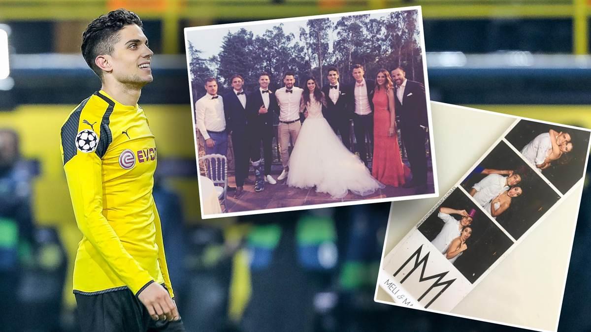 Marc Bartra Hochzeit  BVB Star Marc Bartra feiert Traumhochzeit Bürki Weigl