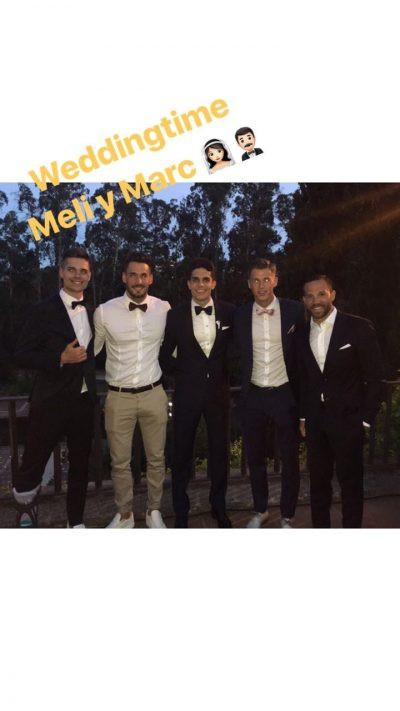 Marc Bartra Hochzeit  Wedding in Barcelona Marc Bartra got married Buzz09