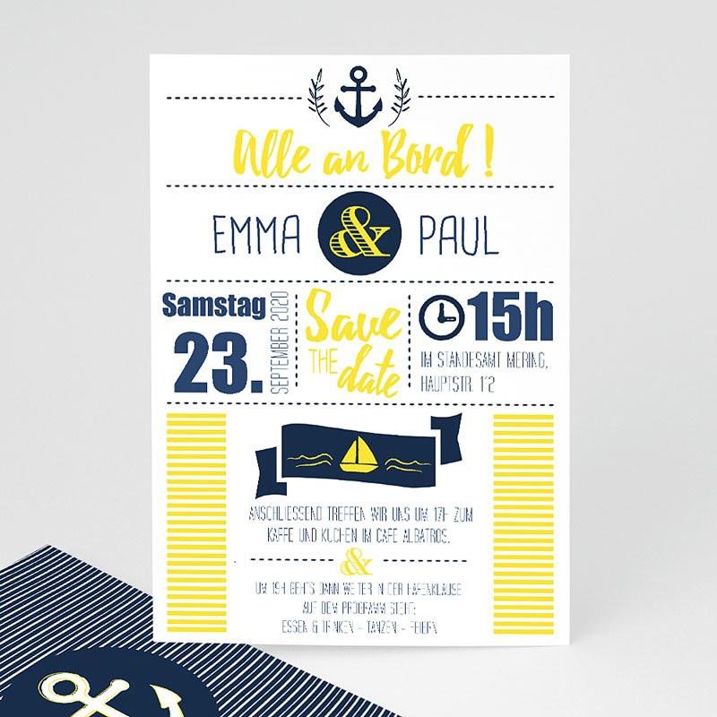 Maritime Geburtstagssprüche  Einladungskarten Hochzeit Marineblau
