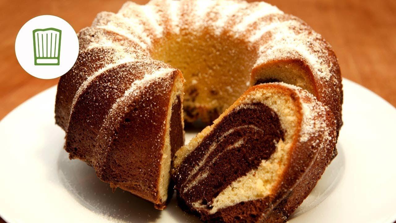 Marmor Kuchen  Rezept Marmorkuchen backen