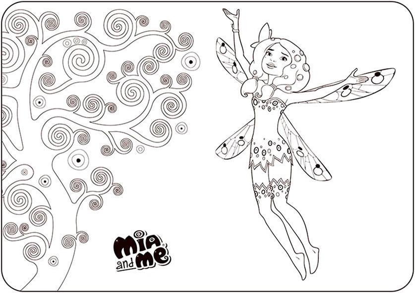 Mia Ausmalbilder  Mia and Me 15