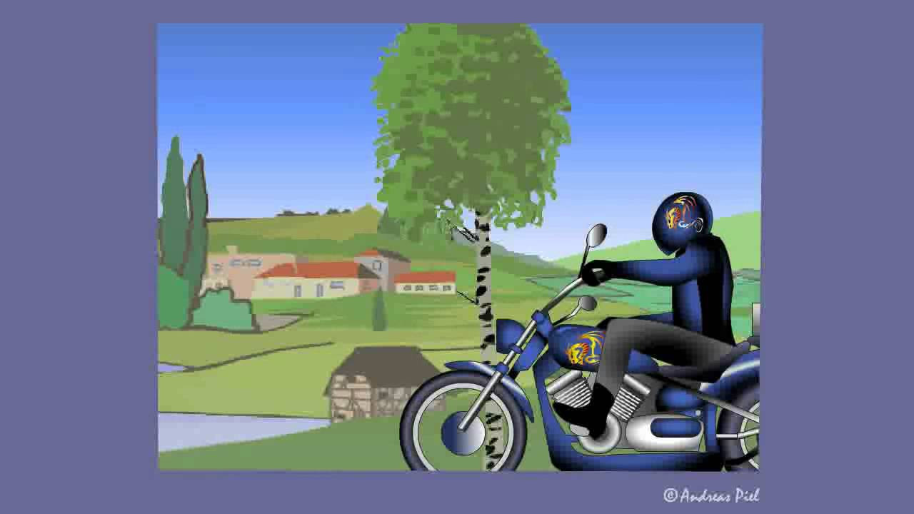 Motorrad Geburtstagsbilder  Motorrad E Card Bikerlady zum Geburtstag