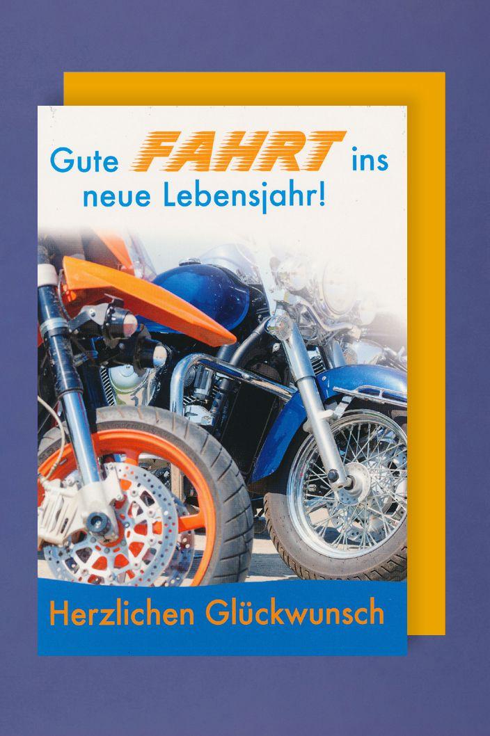Motorrad Geburtstagsbilder  Männer Karte Geburtstag Biker Motorrad Reise 16x11cm