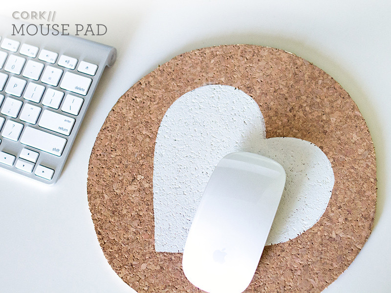 Mousepad Diy  DIY Painted Cork Mouse Pad Sarah Hearts