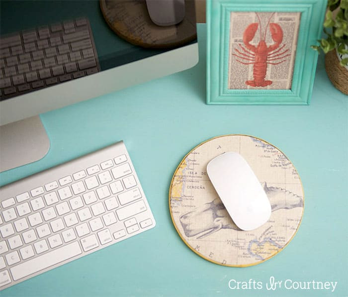 Mousepad Diy  DIY Mouse Pad with Scrapbook Paper Mod Podge Rocks