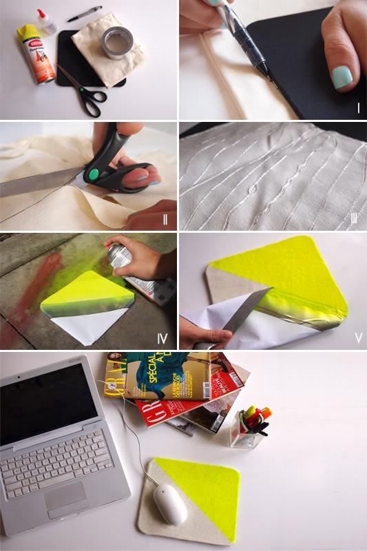 Mousepad Diy  DIY neon canvas mouse pad