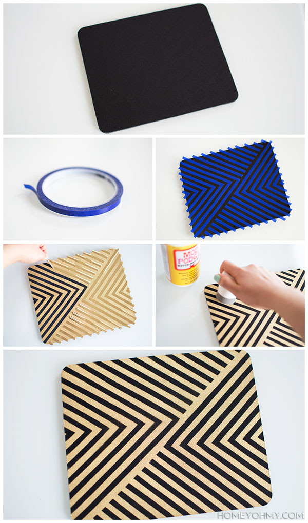 Mousepad Diy  DIY Gold Mouse Pad Homey Oh My