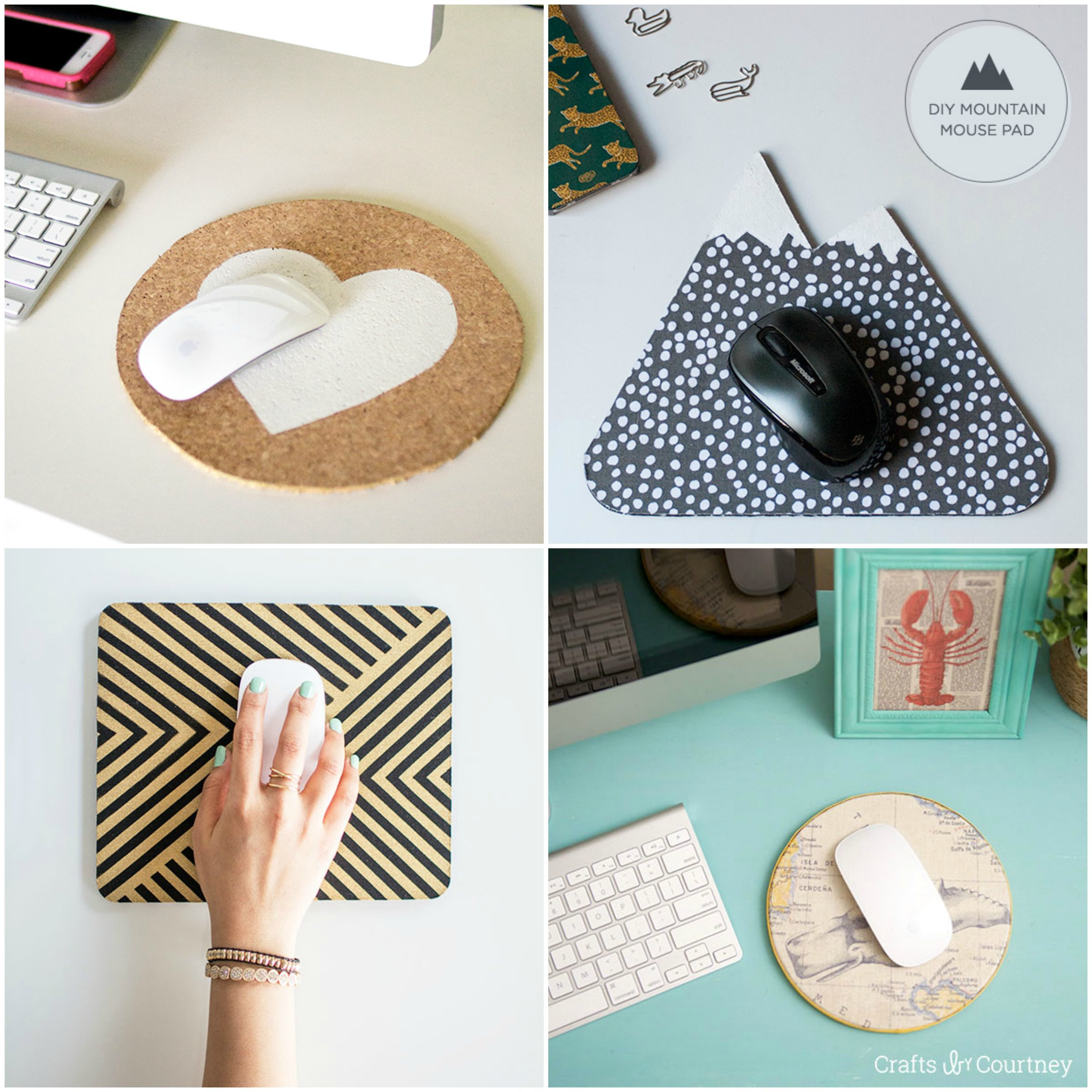 Mousepad Diy  Friday Finds – DIY Mouse Pads