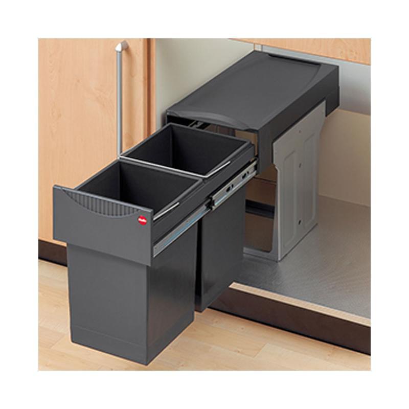 Mülleimer Schrank  Einbau Abfallsammler Tandem 2 fach Trennung ab 30 cm