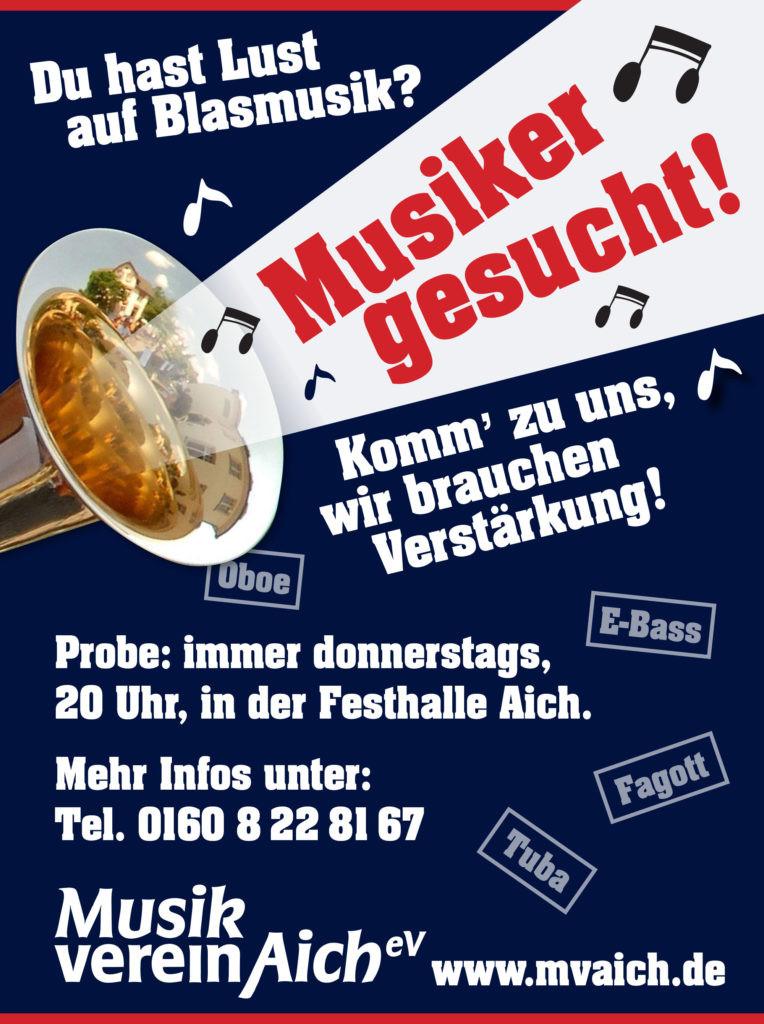 Musiker Für Geburtstagsfeier Gesucht  Musiker gesucht Musikverein Aich