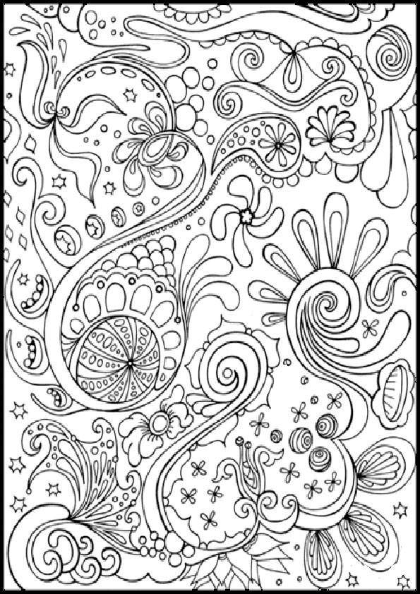 Muster Ausmalbilder  muster 4