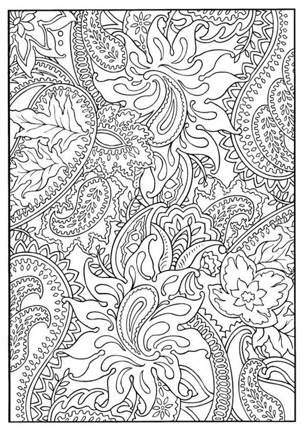 Muster Ausmalbilder  muster 7