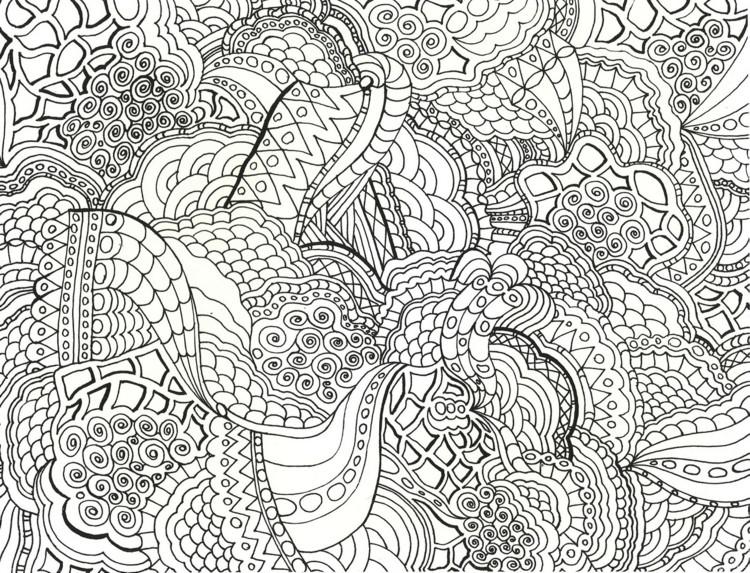 Muster Ausmalbilder  Zentangle Vorlagen gratis ausdrucken zum Ausmalen