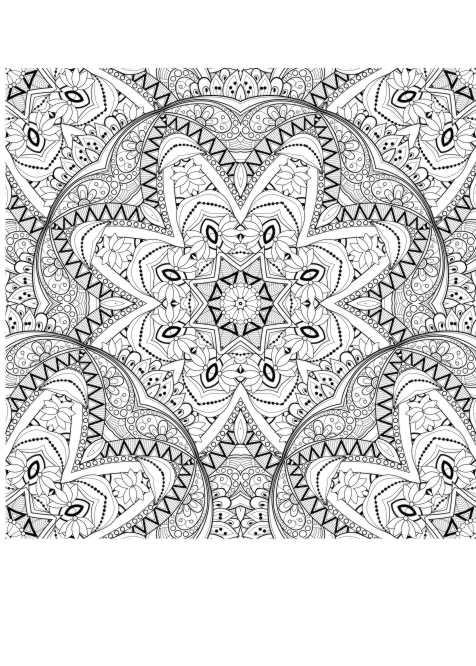 Muster Ausmalbilder  Muster malen fuer Erwachsene Erwachsene ausmalen