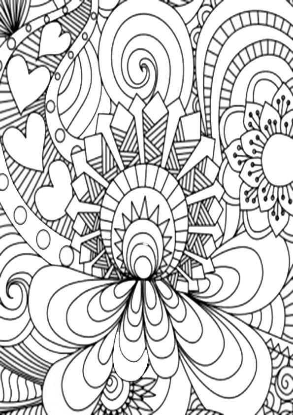 Muster Ausmalbilder  muster 17