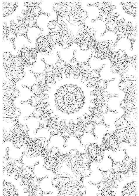 Muster Ausmalbilder  Muster Malung Erwachsene ausmalen