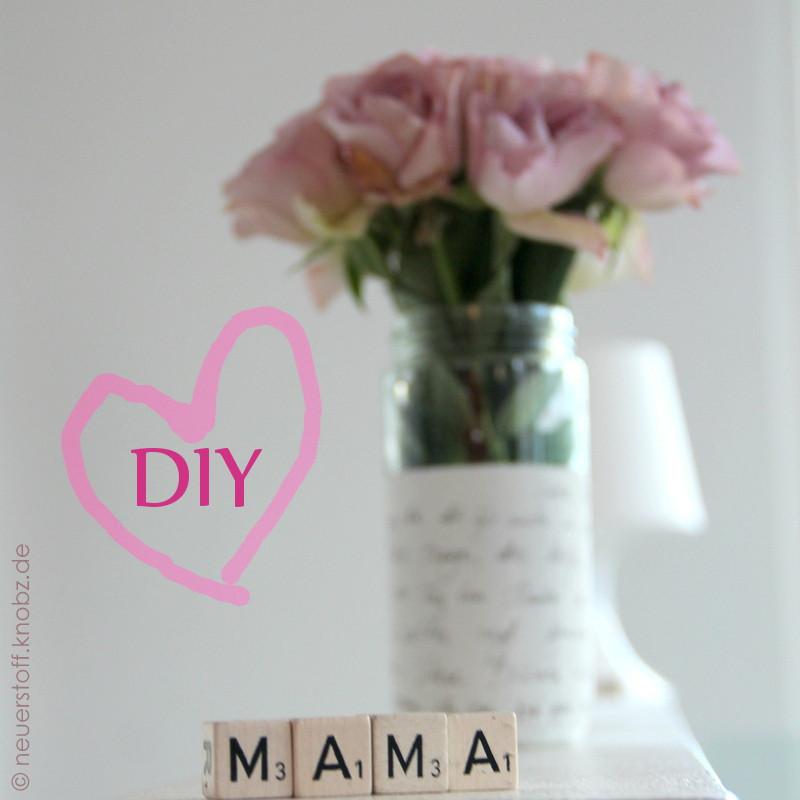 Muttertag Geschenkideen Selber Machen  Muttertag ♥♥♥ last minute Geschenk DIY neuer Stoff