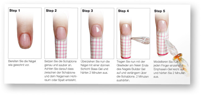 Nageldesign Anleitung Step By Step  Modellage Glasfeder 15 90