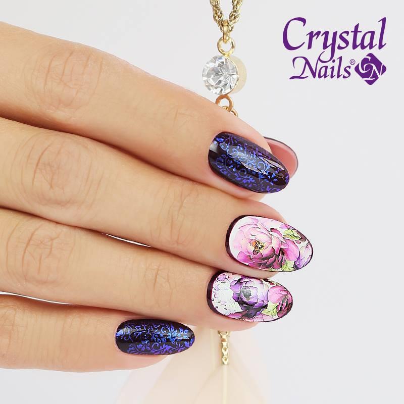 Nageldesign Ausbildung Online  Stempel Mix mit Wasser Sticker – Crystal Nails Austria